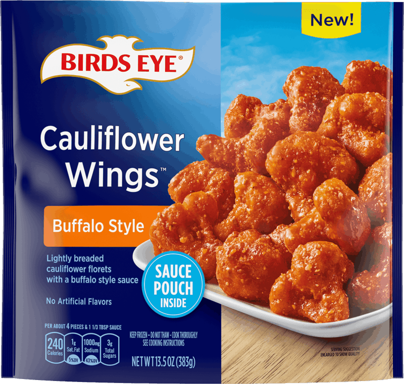 $0.75 for Birds Eye Cauliflower Wings, Bakes, or Oven Roasters (expiring on Tuesday, 09/28/2021). Offer available at Walmart, Walmart Pickup & Delivery.