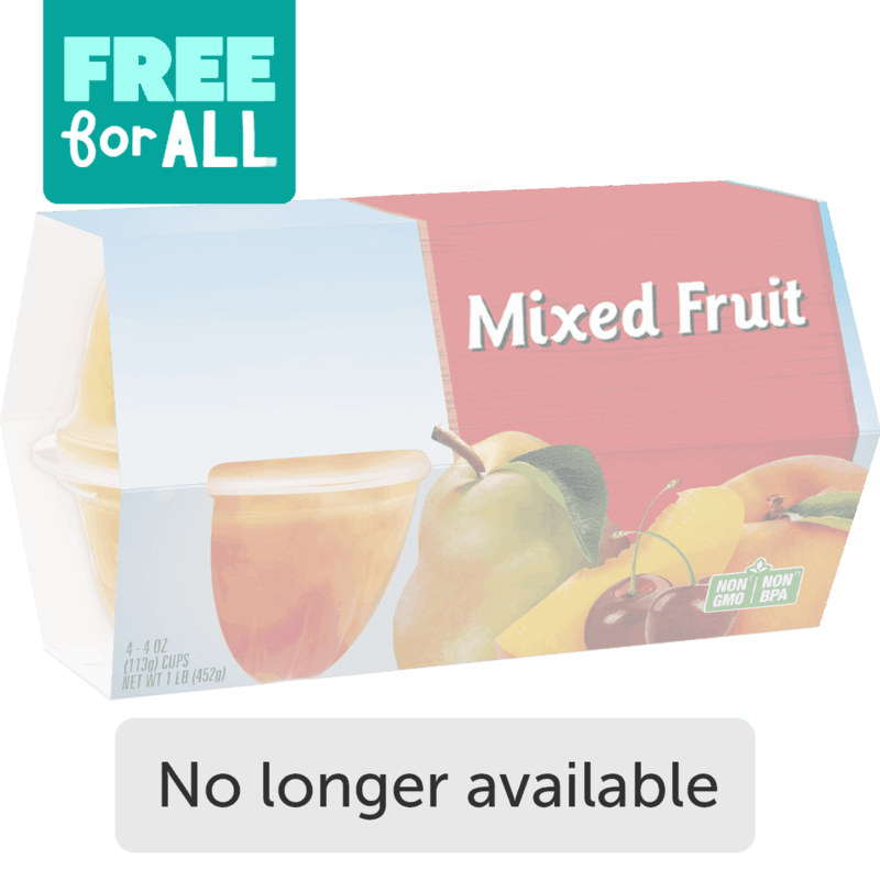 $0.00 for Del Monte Fruit Cups (expiring on Wednesday, 09/01/2021). Offer available at multiple stores.