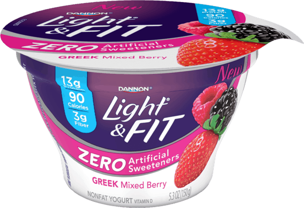 $1.25 for Light & Fit Greek Yogurt with Zero Artificial Sweeteners (expiring on Monday, 04/02/2018). Offer available at multiple stores.