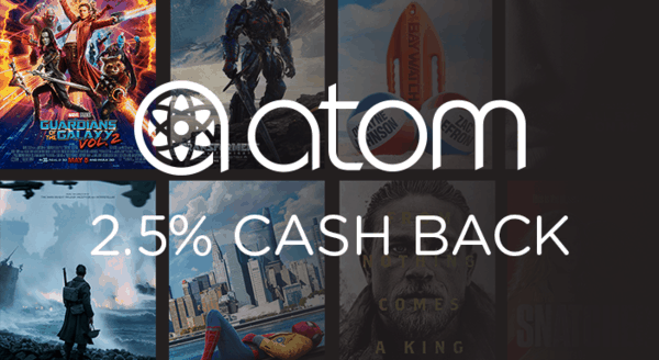 $0.00 for Atom Tickets (expiring on Friday, 05/03/2019). Offer available at Atom Tickets.