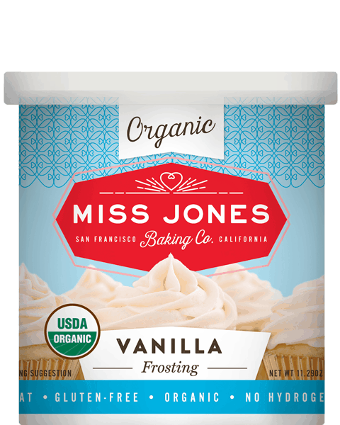$1.00 for Miss Jones Organic Frosting (expiring on Wednesday, 05/02/2018). Offer available at multiple stores.