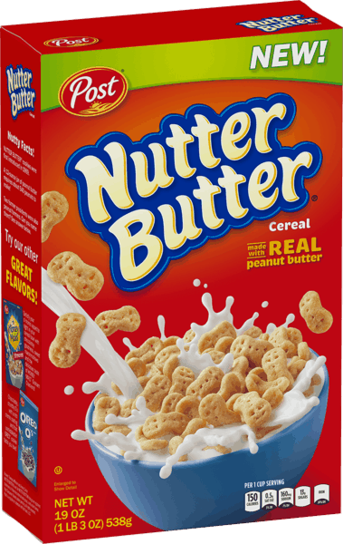 $0.35 for Post® NUTTER BUTTER® Cereal (expiring on Wednesday, 01/02/2019). Offer available at Walmart.