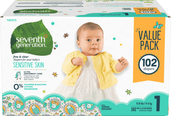 $5.00 for Seventh Generation™ Diapers (expiring on Sunday, 07/01/2018). Offer available at Walmart.
