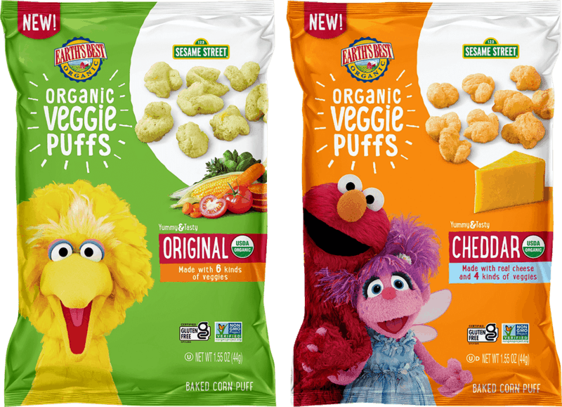 $1.00 for Earth's Best Sesame Street Organic Bagged Snacks (expiring on Monday, 01/31/2022). Offer available at Giant Eagle.