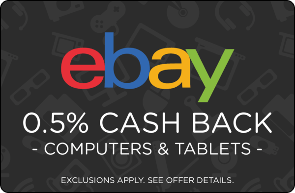 $0.00 for Ebay Computers & Tablets (expiring on Thursday, 04/04/2019). Offer available at eBay.