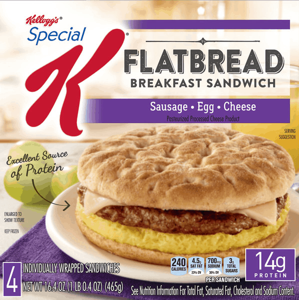 $0.75 for Special K® Flatbread Breakfast Sandwich OR Crustless Quiche. Offer available at multiple stores.