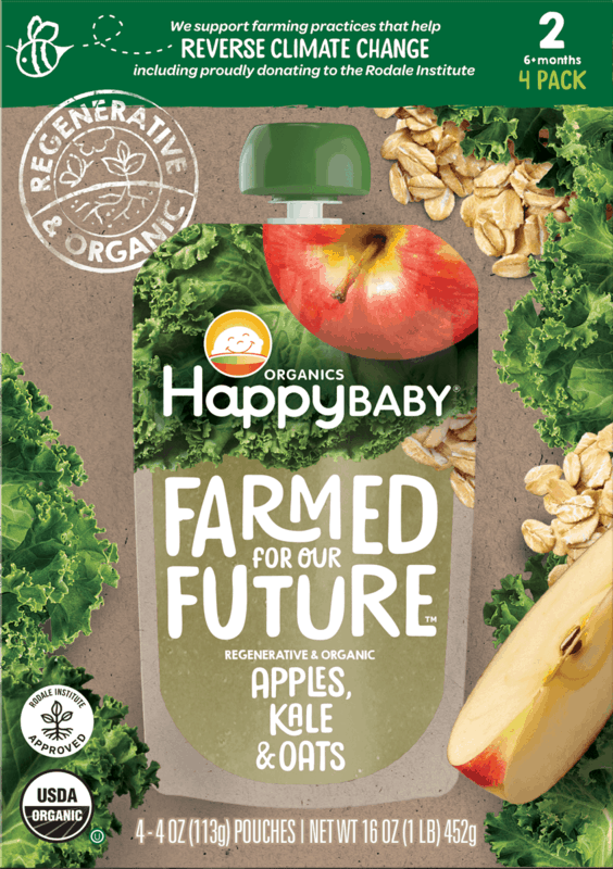 $2.50 for Happy Baby® Regenerative & Organic Pouches (expiring on Friday, 04/30/2021). Offer available at Target, Whole Foods Market®, Target Online.