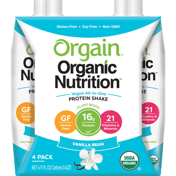 $2.00 for Orgain® Organic Plant-Based Nutrition Shakes. Offer available at Ralphs, Fred Meyer.