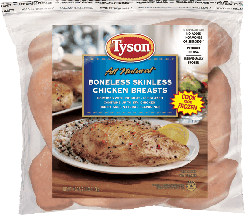 $1.00 for Tyson® All Natural Individually Frozen Chicken (expiring on Wednesday, 10/02/2019). Offer available at multiple stores.