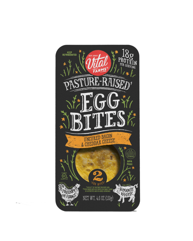 $1.50 for Vital Farms Egg Bites (expiring on Saturday, 02/27/2021). Offer available at Walmart, Walmart Pickup & Delivery.