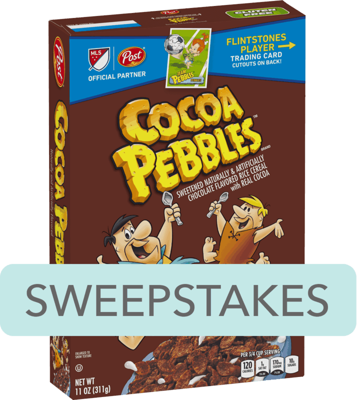 $0.50 for Post® COCOA PEBBLES™ Cereal (expiring on Saturday, 02/08/2020). Offer available at multiple stores.