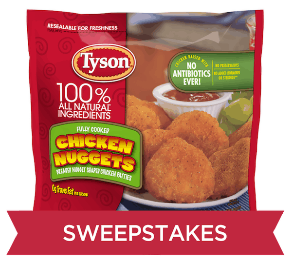$0.75 for Tyson® Chicken Nuggets (expiring on Tuesday, 02/19/2019). Offer available at Dollar General.