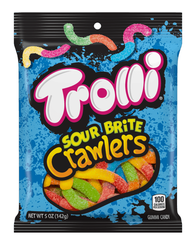 $0.50 for Trolli® Sour Brite Crawlers (expiring on Sunday, 02/02/2020). Offer available at multiple stores.