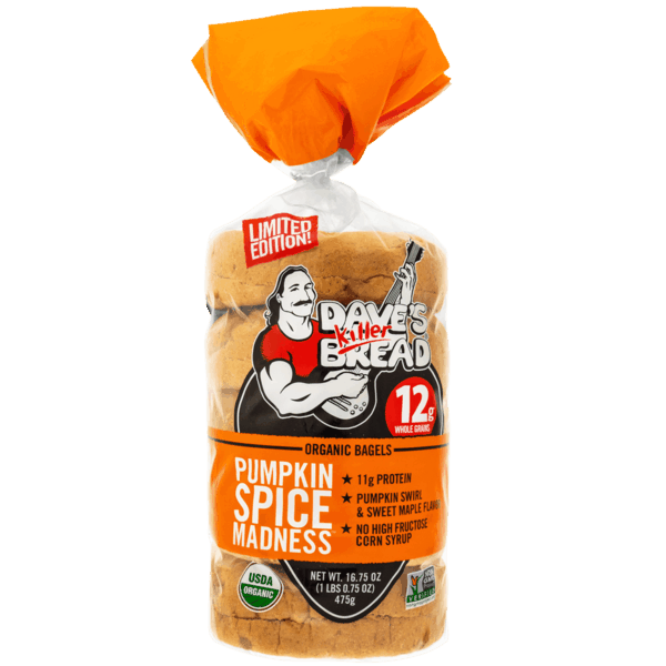 $1.50 for Dave's Killer Bread® Pumpkin Spice Madness™ Bagels (expiring on Wednesday, 07/31/2019). Offer available at multiple stores.