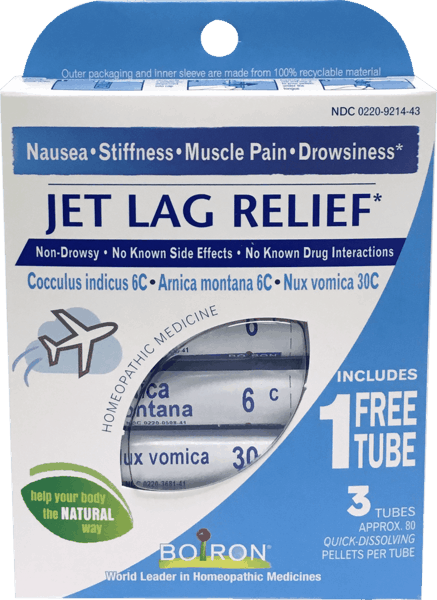 $1.00 for Boiron® Jet Lag Relief (expiring on Wednesday, 08/31/2022). Offer available at The Vitamin Shoppe.