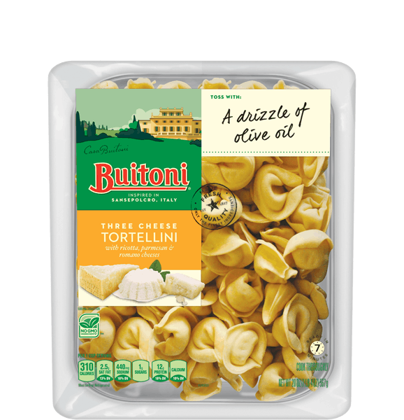 $1.50 for BUITONI® Refrigerated Filled Pasta no GMO. Offer available at Walmart.