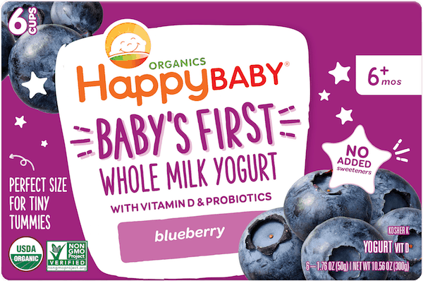 $1.00 for HappyBaby® Yogurt Cup (expiring on Sunday, 09/02/2018). Offer available at Walmart.