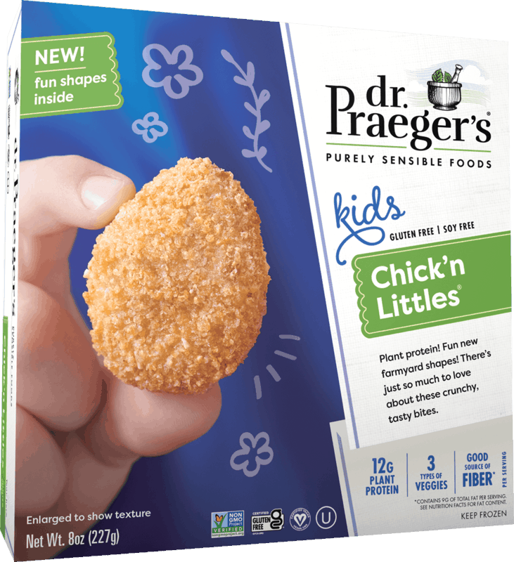$0.50 for Dr. Praeger's Chick'n Littles (expiring on Saturday, 10/16/2021). Offer available at multiple stores.