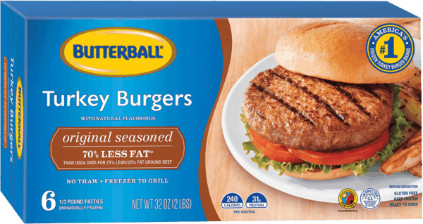 $1.00 for Butterball® Frozen Turkey Burgers (expiring on Saturday, 03/02/2019). Offer available at multiple stores.