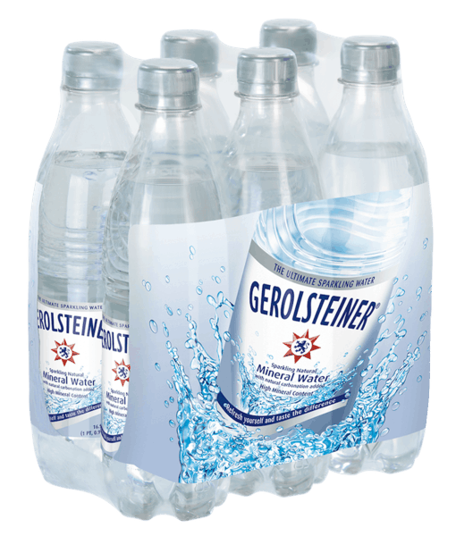 $1.00 for Gerolsteiner® Sparkling Natural Mineral Water SixPack (expiring on Thursday, 02/28/2019). Offer available at multiple stores.