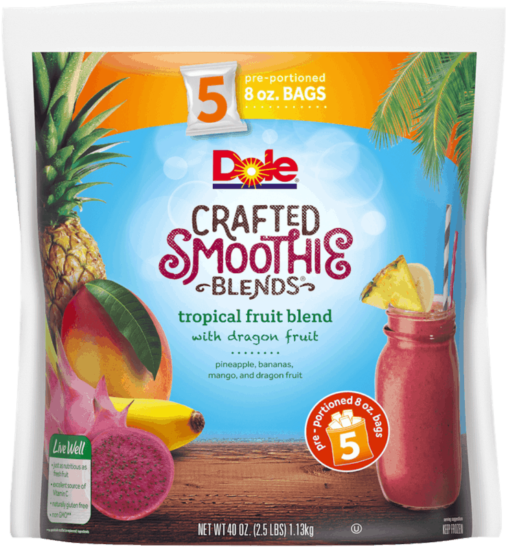 $1.50 for Dole Crafted Smoothie Blends (expiring on Sunday, 08/02/2020). Offer available at multiple stores.