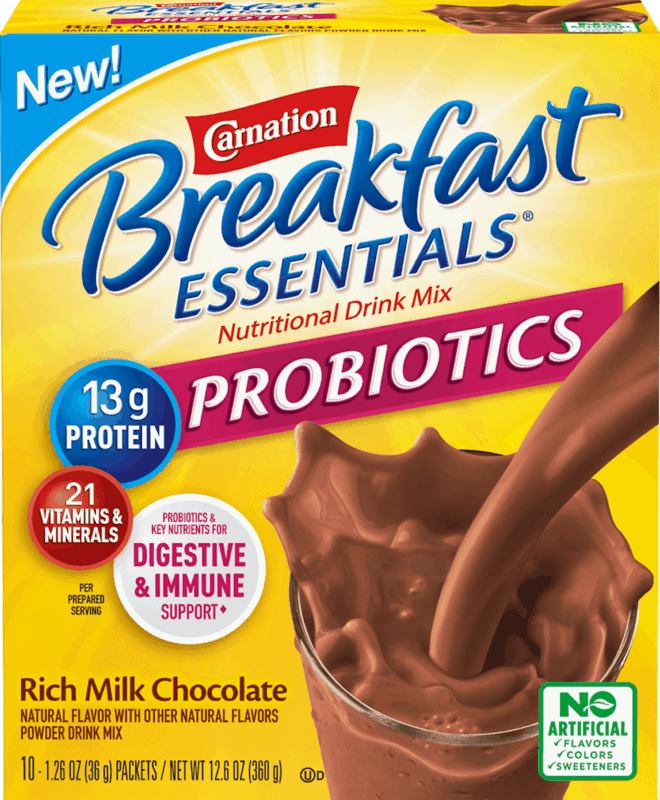 $1.50 for Carnation Breakfast Essentials Nutritional Products Probiotic Powder Drink Mix (expiring on Thursday, 05/28/2020). Offer available at Walmart, Walmart Grocery.