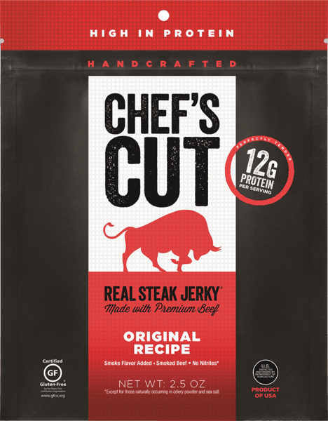 $1.00 for Chef's Cut Real Jerky® (expiring on Thursday, 02/01/2018). Offer available at ShopRite, Wegmans, Wawa, Sheetz.