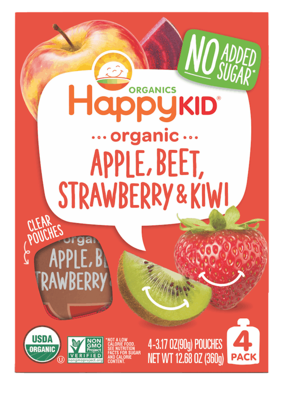 $1.00 for Happy Kid Organics Pouches (expiring on Monday, 05/31/2021). Offer available at multiple stores.