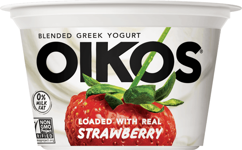 $0.75 for Oikos® Blended Greek Yogurt. Offer available at Walmart, Walmart Pickup & Delivery.