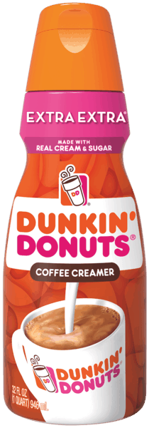$1.00 for Dunkin' Donuts® Extra Extra Coffee Creamer (expiring on Tuesday, 04/02/2019). Offer available at multiple stores.