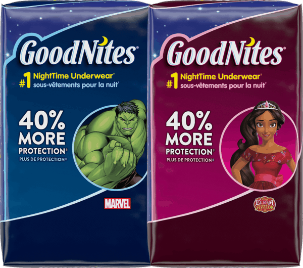 $2.00 for GoodNites® Underwear. Offer available at multiple stores.