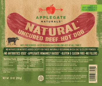 $1.00 for Applegate Naturals® Beef Hot Dog. Offer available at multiple stores.