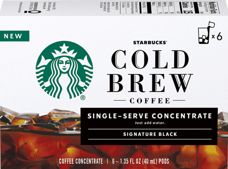 $2.00 for Starbucks Cold Brew Coffee Single-Serve Concentrate (expiring on Sunday, 08/02/2020). Offer available at multiple stores.