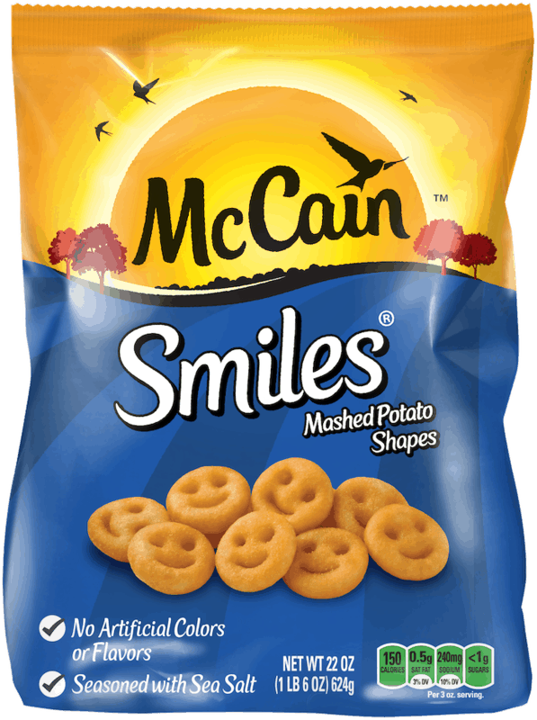 $0.50 for McCain® Frozen Potatoes & Onion Rings. Offer available at Walmart.