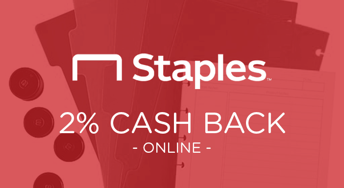 $0.00 for Staples (expiring on Monday, 03/31/2025). Offer available at Staples.com.
