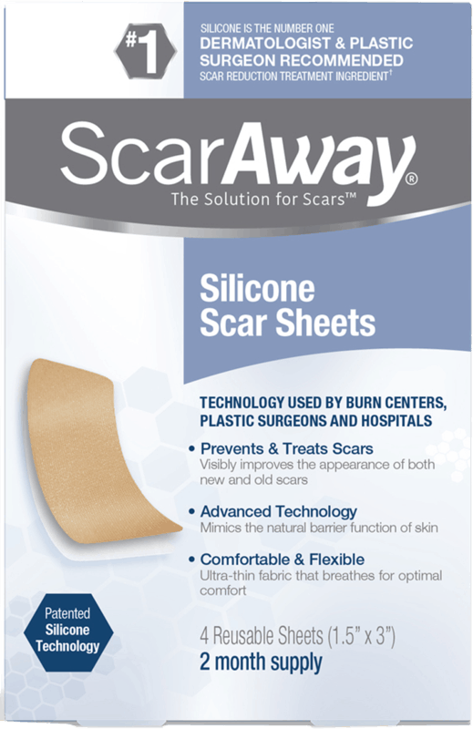 $2.00 for ScarAway Silicone Scar Sheets (expiring on Sunday, 08/30/2020). Offer available at Walmart, Walmart Grocery.