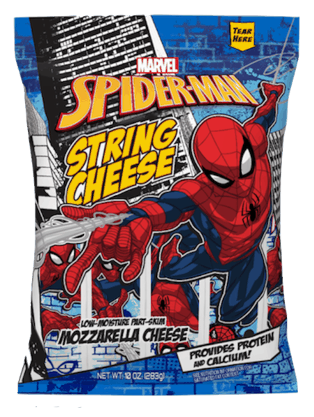 $0.50 for Marvel String Cheese (expiring on Monday, 03/18/2019). Offer available at multiple stores.
