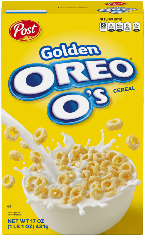 $0.50 for Golden OREO O's™ Cereal. Offer available at Walmart.