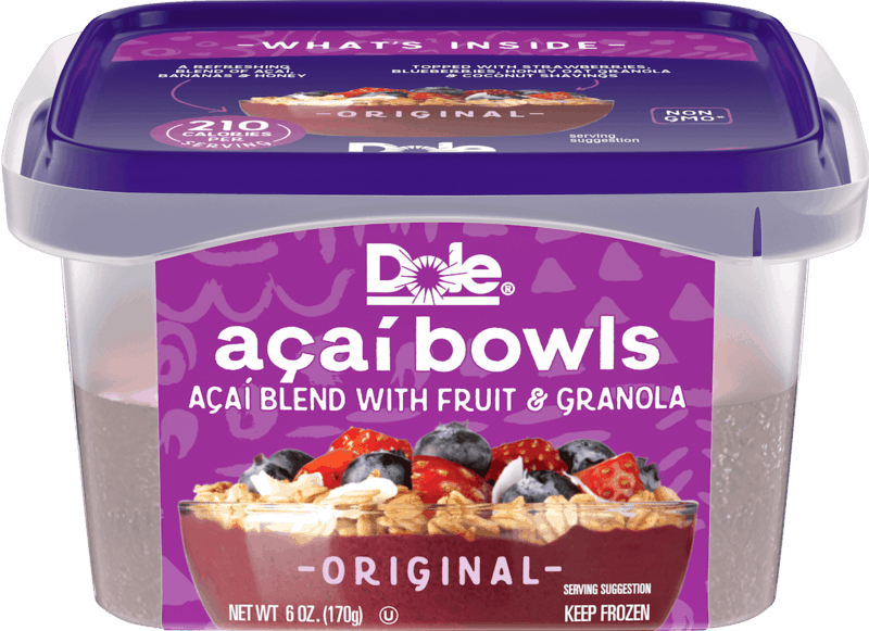 $0.75 for Frozen Dole Açaí Bowls (expiring on Sunday, 08/02/2020). Offer available at multiple stores.