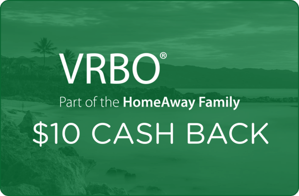$10.00 for VRBO (expiring on Wednesday, 02/28/2018). Offer available at VRBO.