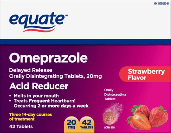 3 00 For Equate Omeprazole Acid Reducer Delayed Release Orally Disintegrating Tablets 20mg Offer Available At Walmart Printable Coupons