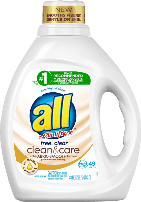 $2.00 for all® Clean & Care Laundry Detergent (expiring on Friday, 09/11/2020). Offer available at Walmart, Walmart Grocery.
