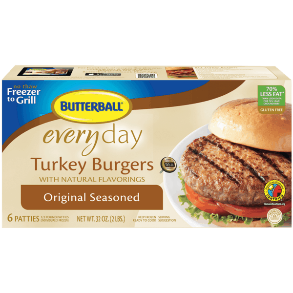$1.00 for Butterball® Frozen Turkey Burgers (expiring on Monday, 07/02/2018). Offer available at multiple stores.