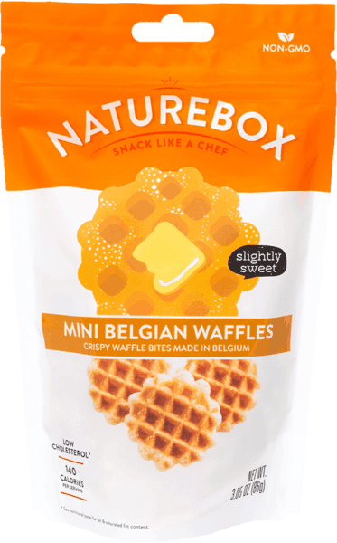 $1.00 for NatureBox Mini Belgian Waffles (expiring on Monday, 05/21/2018). Offer available at Safeway, Target, Sprouts Farmers Market, Cost Plus.