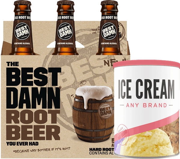 $3.00 for BEST DAMN Family AND Ice Cream (expiring on Tuesday, 04/25/2017). Offer available at multiple stores.