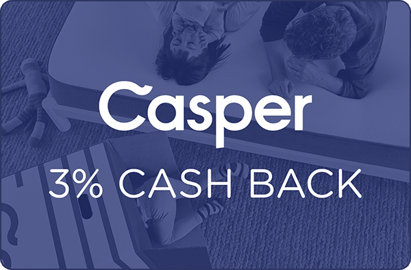$0.00 for Casper (expiring on Tuesday, 04/30/2019). Offer available at Casper.