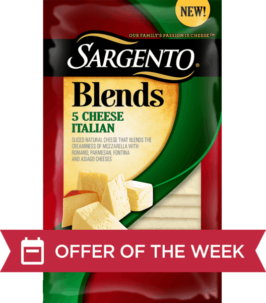 $0.75 for Sargento® Blends™ Slices (expiring on Friday, 11/02/2018). Offer available at multiple stores.