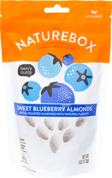 $1.00 for NatureBox Sweet Blueberry Almonds (expiring on Monday, 05/21/2018). Offer available at Target, Cost Plus.
