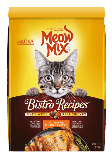 $1.25 for Meow Mix® Dry Cat Food (expiring on Wednesday, 04/26/2017). Offer available at multiple stores.
