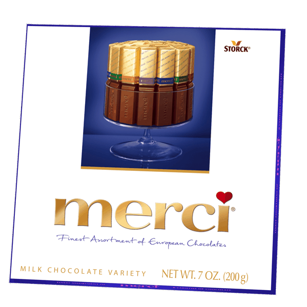 $0.25 for merci® (expiring on Thursday, 01/25/2018). Offer available at multiple stores.